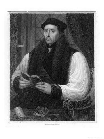 Thomas Cranmer Archbishop of Canterbury Giclee Print