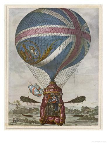 Vincent Lunardi Makes His Second Ascent from St. George's Fields London Giclee Print