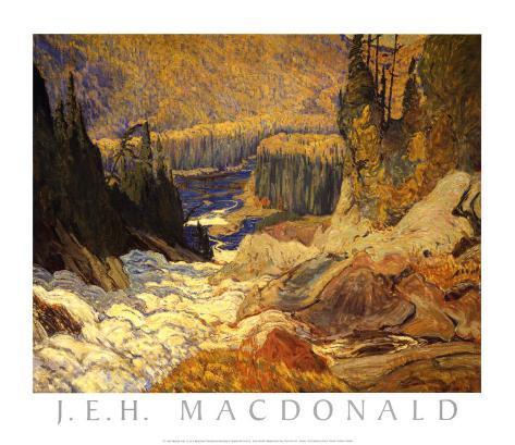 Falls, Montreal River Art Print