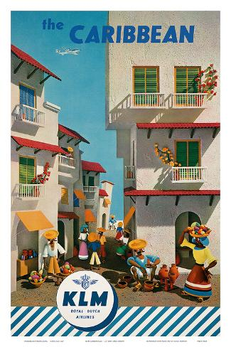 KLM Royal Dutch Airlines: The Caribbean, c.1960s Art Print