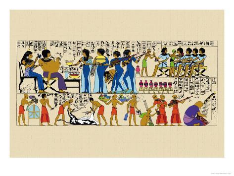Celebration from a Tomb at Thebes Art Print