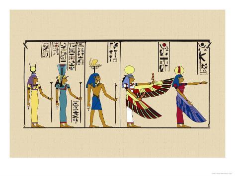Hek, Isis and Khu Art Print