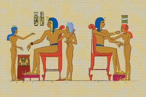 Ramses III Playing at Draughts Wall Decal