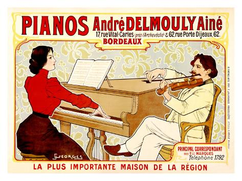 Pianos Delmouly Giclee Print