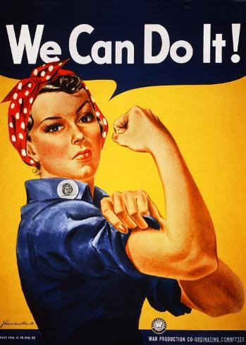 We Can Do It! (Rosie the Riveter) Art Print