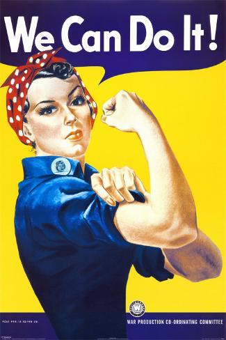 We Can Do It! (Rosie the Riveter) Framed Art Print