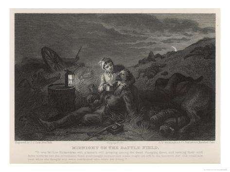 Mother Bickerdyke a Nurse Seeks the Living Among the Dead Giclee Print