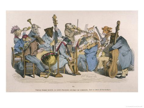 Musicians Satirised by Being Represented as Animals Giclee Print