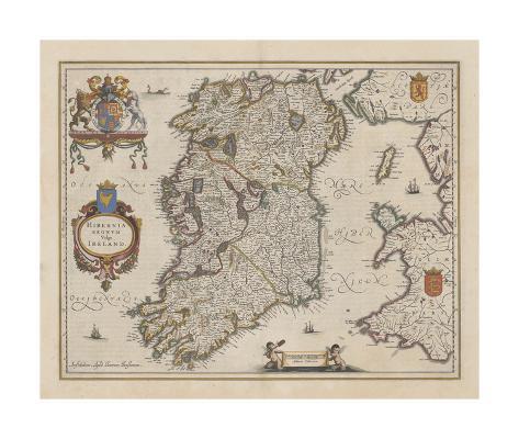 Hibernia Regnum Vulgo Ireland Premium Giclee Print