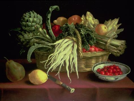 Still Life of Fruit and Vegetables Giclée-vedos