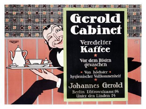 Gerold Cabinet Kaffee Giclee Print