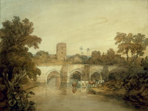 Bromfield on the River Onny, near Ludlow, Shropshire, 1798 Giclee Print
