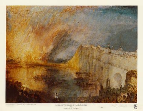 Burning of the Houses of Parliament Art Print
