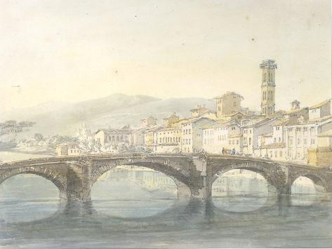 Florence from the Arno Giclee Print