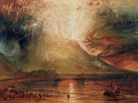 Mount Vesuvius in Eruption, 1817 (W/C on Paper) Giclee Print
