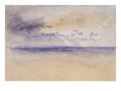 Off the Coast: Seascape and Clouds, 19th Century Giclee Print