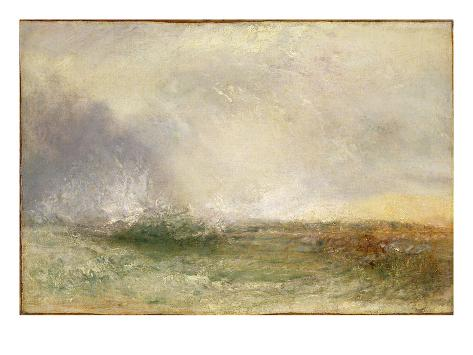 Stormy Sea Breaking on a Shore, 1840-5 Giclee Print