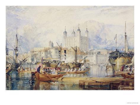 The Tower of London, circa 1825 Giclee Print