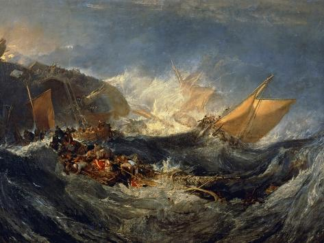 The Wreck of a Transport Ship Circa 1810 Giclee Print