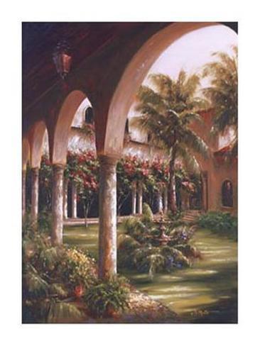 Palm Entrance I Art Print