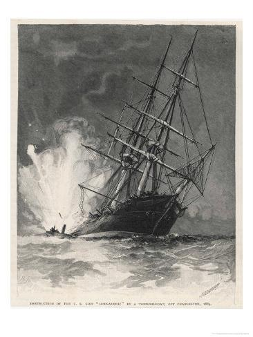 Confederate Torpedo Boat Sinks the
