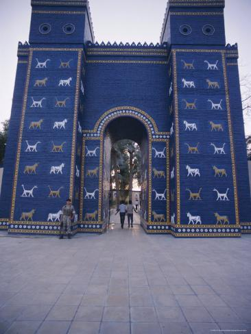 the reconstructed ishtar gate babylon iraq middle east