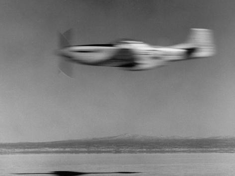 Airplane in Flight, Speed-Blurred Photographic Print