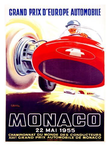 Monaco Grand Prix, 1955 Giclee Print