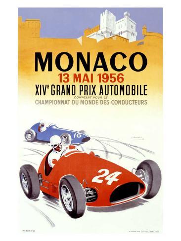 Monaco Grand Prix, 1956 Giclee Print