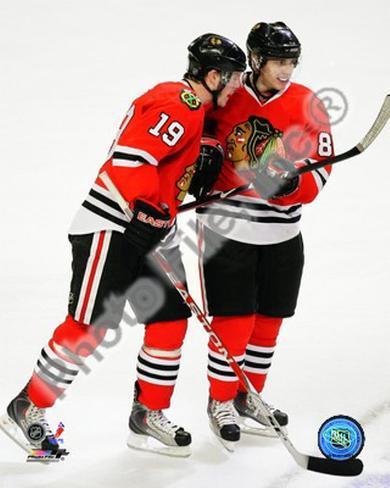J.Toews / P.Kane - 2009 Playoffs Framed Photographic Print