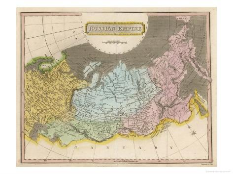 Map of the Russian Empire Giclee Print