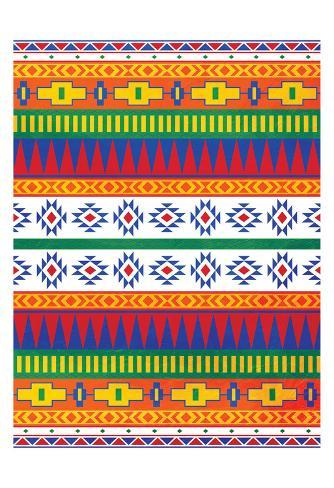 Aztec Patterned Mate Colors Stampa artistica