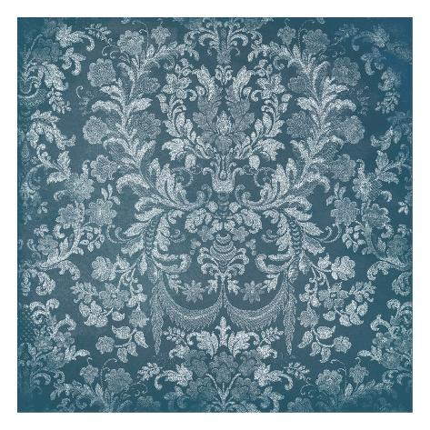 Blue Floral Chaos Art Print
