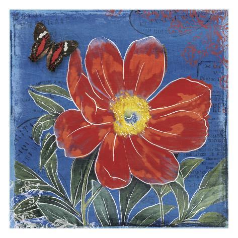 Bright Bloom Blue Art Print