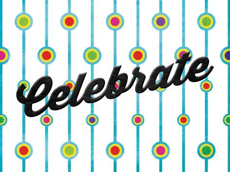 Celebrate Dots Art Print