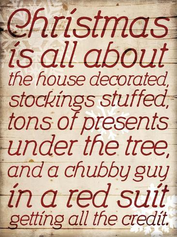 Christmas Is All About Type Art Print