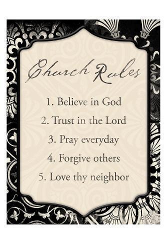 Church Rules Art Print