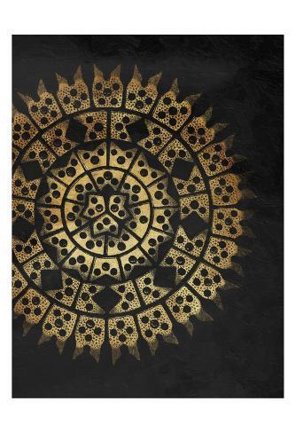 Coastal Patterns Gold Art Print