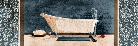 Enjoying Bath Art Print