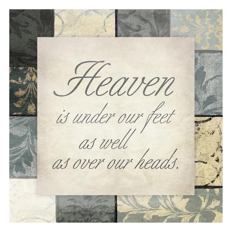 Heaven Under Feet Art Print