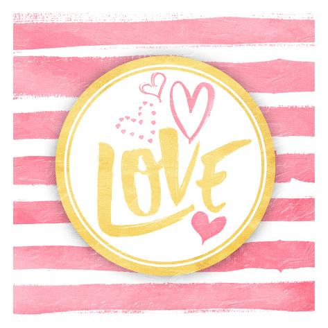 Love Stripes Art Print