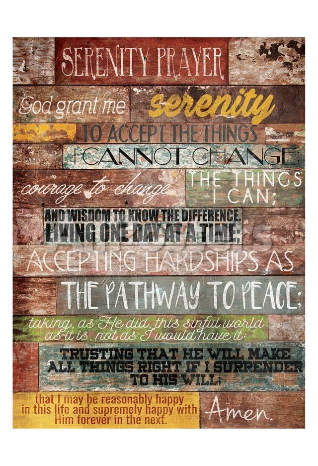 Oración de serenidad Póster por Jace Grey en AllPosters.es