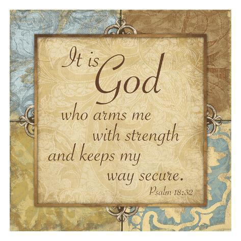 Psalm 18:32 Art Print