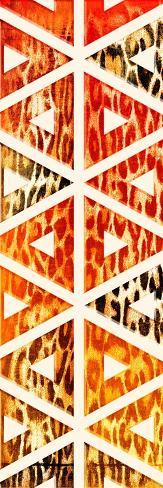 Triangular Animals Bright Mate Art Print