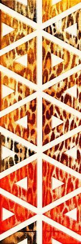 Triangular Animals Bright Art Print