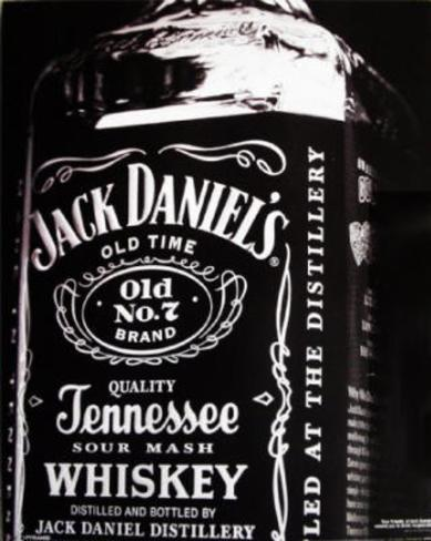 Jack Daniel's Bottle Old No 7 College Poster Mini Poster