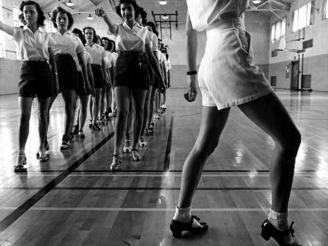 Tap Dancing Class at Iowa State College, 1942 Photo