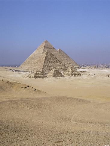 Pyramids at Giza, Unesco World Heritage Site, Near Cairo, Egypt, North Africa, Africa Photographic Print
