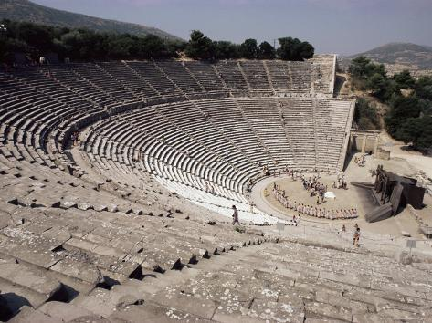 Restored Theatre, Epidaurus, Unesco World Heritage Site, Greece Photographic Print