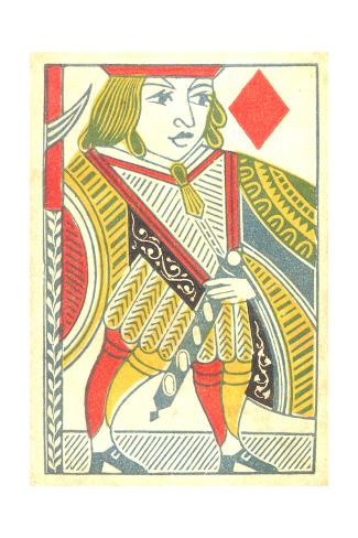 Jack of Diamonds Playing Card Art Print